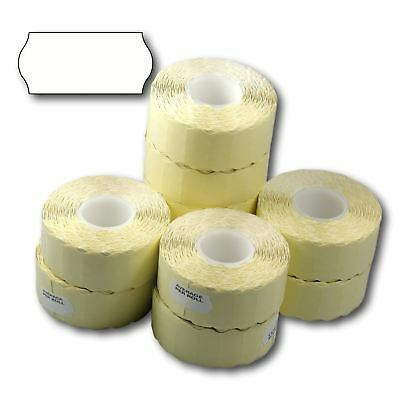 15,000 (10 Rolls) White Permanent Blank Plain CT4 26 x 12mm Price Gun Labels