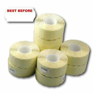 15,000 (10 Rolls) Permanent Printed Best Before CT4 26 x 12mm Price Gun Labels