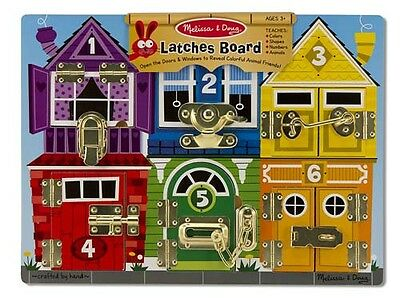 NEW Melissa & Doug Latches Wooden Play Board Educational Toy