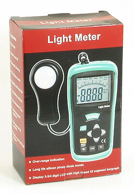 DT-1308 400K LUX 40K FC Digital LCD Light Meter foot-candle Luxmeter Tester NEW