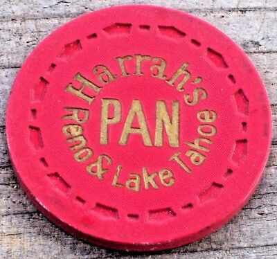 N/D Red Pan R9 7Th Edt Gaming Chip From Harrah's Club Casino Reno/Lake Tahoe