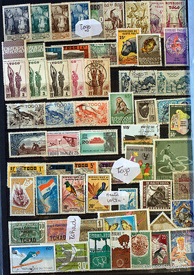 Togo Tchad   Timbres  Non Tries      Ac43