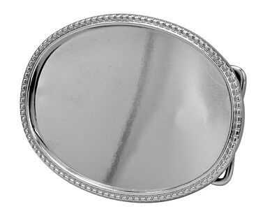 Oval Belt Buckle Blank - Add your Own Design