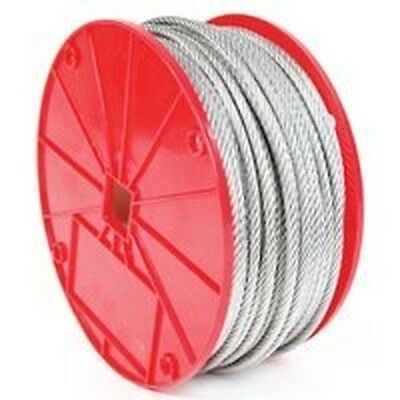 """New Koch 003292 3/8"""" X 250Ft Roll Galvanized Aircraft Steel Rope Cable 0387928"""