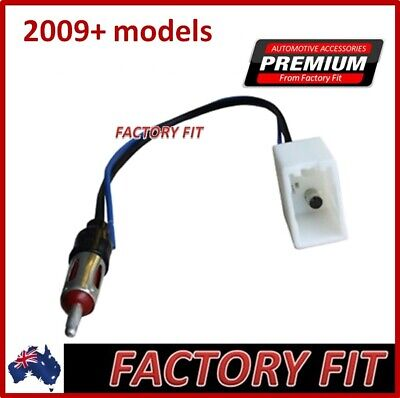_For Toyota 2009 -14 Prado Hilux Radio Antenna Adapter Cable Universal Din Plug