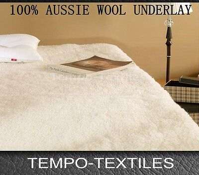 Premium Healthy 100% Aussie Made Wool Fully Fitted Under blanket / Underlay