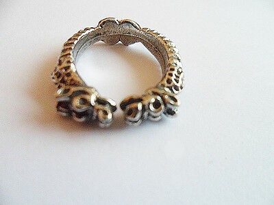 Serpent, English pewter ring