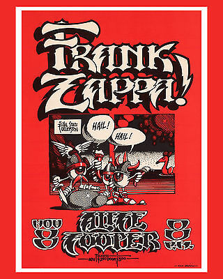 """Frank Zappa -Concert Poster,  8""""x10"""" Color Photo"""