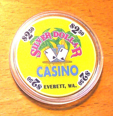 $2.50 Silver Dollar Casino Chip - Everett, Washington - CHIPCO