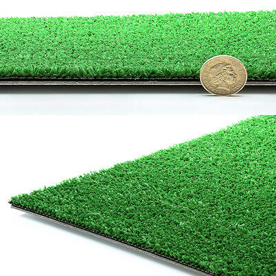 4mm Thick Artificial Grass 2-4M Wide Cheap Lawn Turf Fake Plastic Green Garden