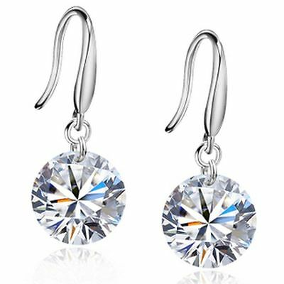 Classic 925 sterling silver hanging diamond style earrings multiple choices