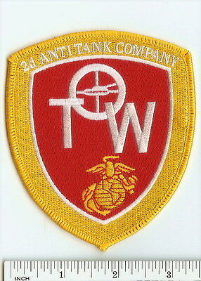USMC 2nd Anti-Tank Company PATCH Marines TOW missile RARE 2d AT Co Hard to Find!