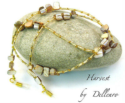 ✫Harvest✫Beige  Beaded Eyeglass Necklace Glasses Spectacles Chain Holder Cord