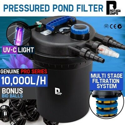 Aquarium External Canister Filter Aqua Fish Tank Pond Water UV Light 10000 L/H