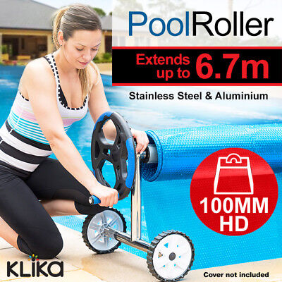 NEW HEAVY DUTY POOL ROLLER for SOLAR SWIMMING POOL BLANKET THERMAL BUBBLE COVER
