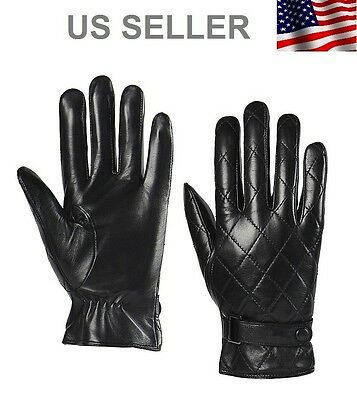 Men's Genuine Leather Gloves Black