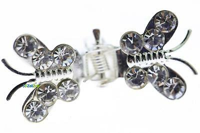 Cool Butterfly Shaped Hair Clip with Rhinestones Hair Accessory Barettes 24 pcs