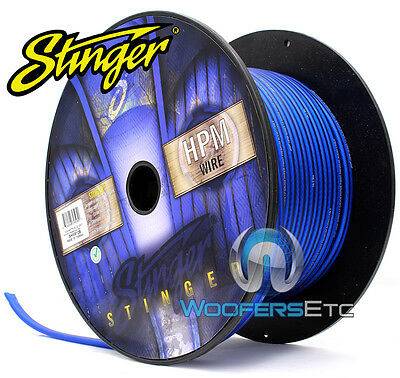 Stinger Shw512B-100 Hpm 12 Awg Blue 100 Feet Speaker Car Home Audio Cord Cable