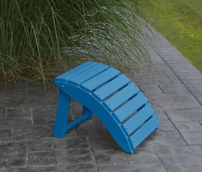 Outdoor Poly Lumber Sea Aira Ottoman//Footrest Amish Made in the USA