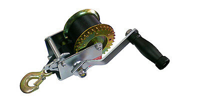 "HAND WINCH Trailer Winch - Heavy Duty - 600 Lb Cap - Includes 23 Ft of 2"" Strap"