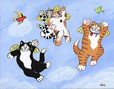 """Candace Reiter/Catzilla studio """" Our Kitties Dream They Can Fly"""""""