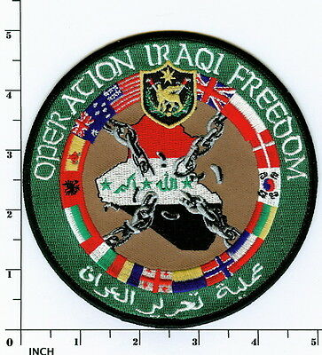 Operation IRAQI FREEDOM Vets PATCH Multi-Service Multi-National Coalition Forces