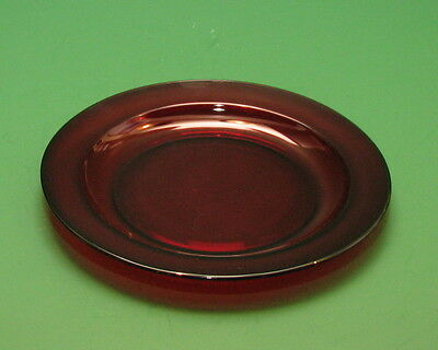 ARCOROC France Vintage Ruby Red 7.5 wide bread butter salad plate dish