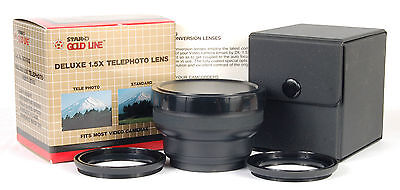 DIGITAL CAMERA/CAMCORDER 1.5x TELEPHOTO VIDEO CONVERSION LENS! FITS 46,49,52mm