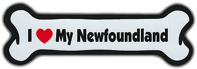 Dog Bone Magnet: I Love My Newfoundland | For Cars, Refrigerators, More