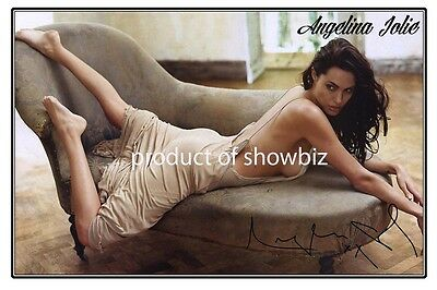 Angelina Jolie - Large Autograph Signed Photo Poster Print
