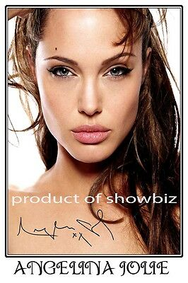 Angelina Jolie - Large Autographed Signed Photo Poster Print