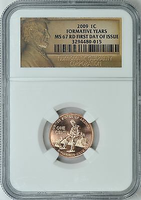 2009 (P) LINCOLN FORMATIVE YEARS 1c FIRST DAY ISSUE NGC MS67RD