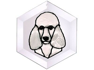 Dogs #9 5x5 Hand Painted Stained Art Glass Window Suncatcher By Silver Creek