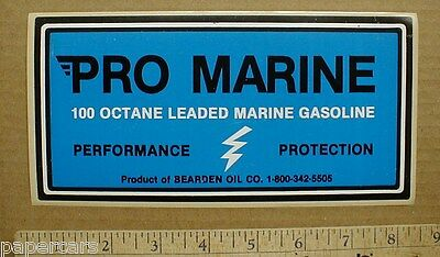 2 Pro Marine 100 Octane Gasoline Bearden Oil Company boat sticker decal 1990s