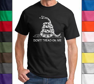 Dont Tread on Me Gadsden flag T Shirt - Tea Party, Political, Tee, T-Shirt, New