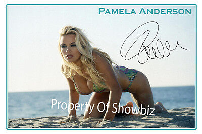 Pamela Anderson - Large Autograph Signed Photo Poster - Bay Watch - Great Framed