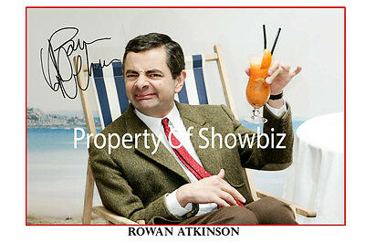 *rowan Atkinson* Large Signed Autograph Photo, Looks Great Framed!!