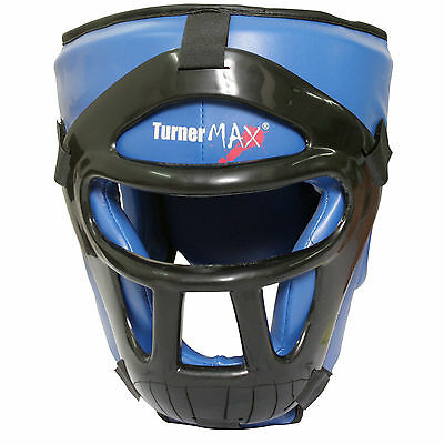 TurnerMAX Head Guard Helmet Protection Kick Boxing Martial Arts MMA Face Gear