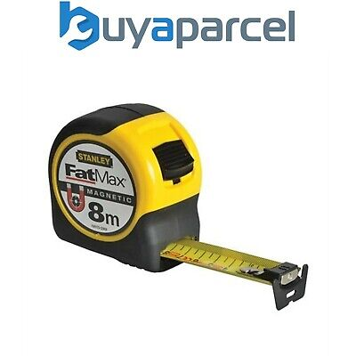 Stanley FatMax Magnetic Tip Tape 8m Metric Only STA033868 0-33-868