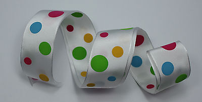 RIBBON with BIG SPOTS, 1 Mtr, Gifts/Cards/Bows/Party/Christmas