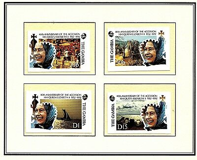 (18160) The Gambia - IMPERFORATE (2500 ISSUED) - Queen 40 Years 1992 MNH