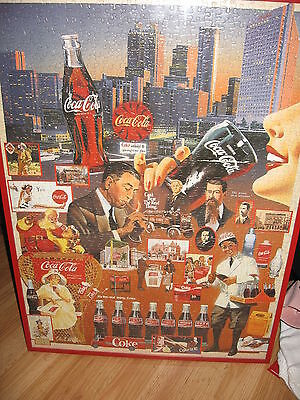 Framed 1999 Paul Miller Coca-Cola Puzzle - Over 100 Years of Refreshment