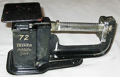 Vintage Black Metal 72 TRINER Airmail Accuracy Scale Propery of USPO 1937