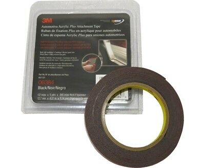 Ccg 3M Double Sided Automotive Acrylic  Attachment Tape 15 Ft - 06384 - Black