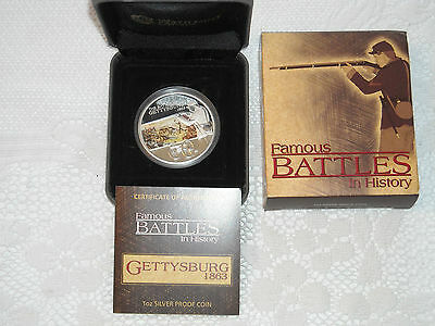 Famous Battles in History GETTYSBURG 1863 1oz Silver Proof Coin