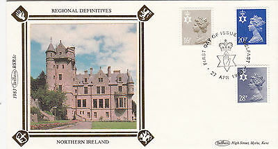 (19456) GB Benham FDC Northern Ireland - 28p 20.5p 16p - 27 April 1983 Belfast