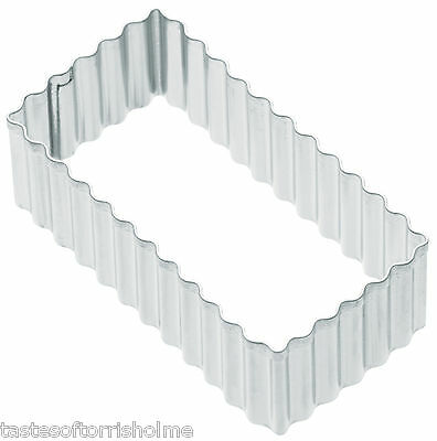 Kitchen Craft Fluted Rectangle 8cm Biscuit, Pastry, Cookie Cutter