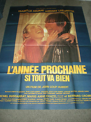 Next Year If All Goes Well - French Poster - Isabelle Adjani - 1981
