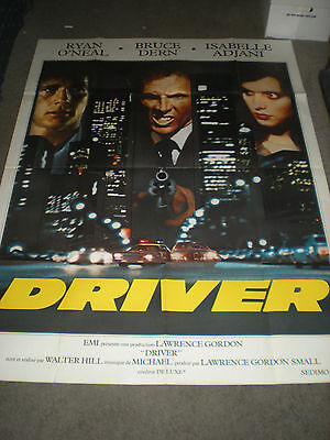The Driver - French Poster - Isabelle Adjani/ryan O'neal/walter Hill - 1978