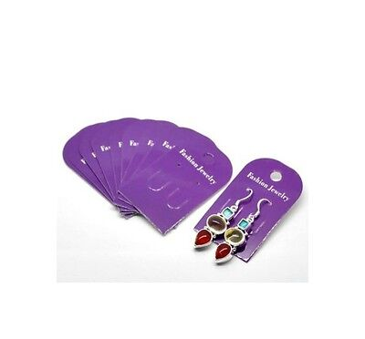 100 x Purple Card Earring Display Cards Jewellery Tools Ear Gifts  Q50